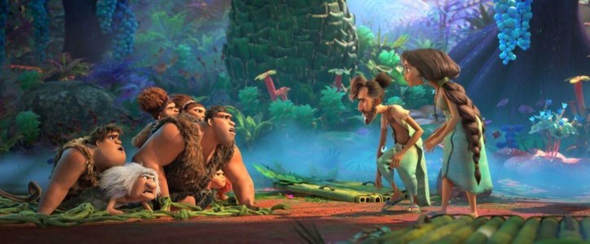Cena do trailer de Os Croods 2 (Reprodução: DreamWorks / Universal)