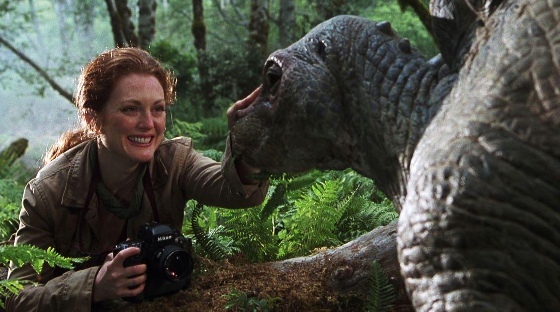 Sarah Harding (Julianne Moore) em O Mundo Perdido - Jurassic Park