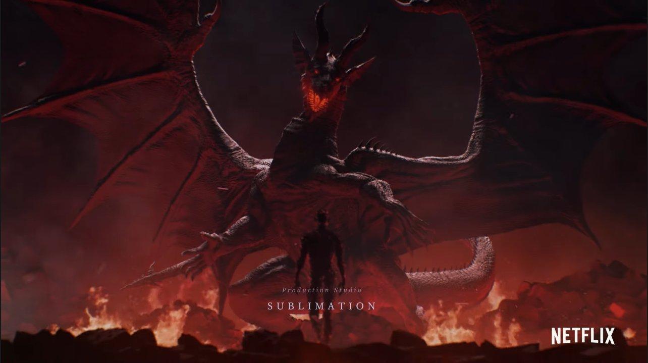 Cena da abertura de Dragon's Dogma (Reprodução / Netflix)