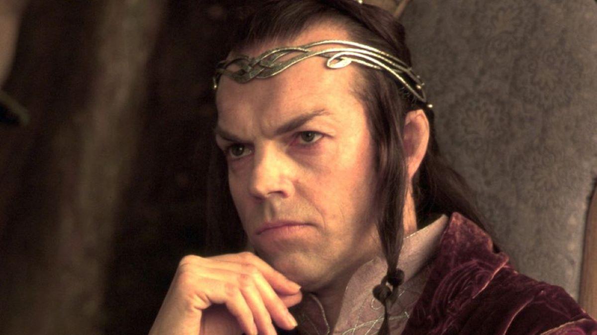 Elrond (Hugo Weaving) em O Senhor dos Anéis (Reprodução)