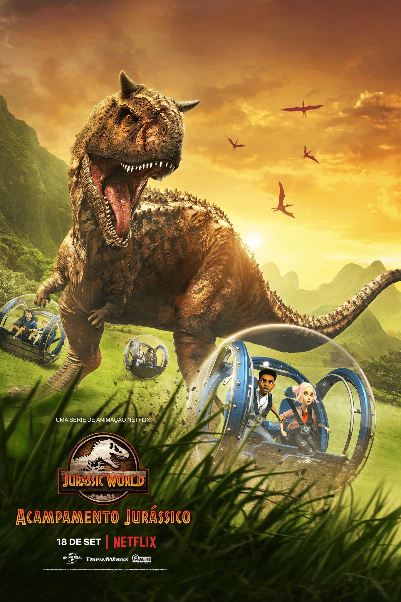 Pôster de Jurassic World: Acampamento Jurássico (Divulgação / Netflix)