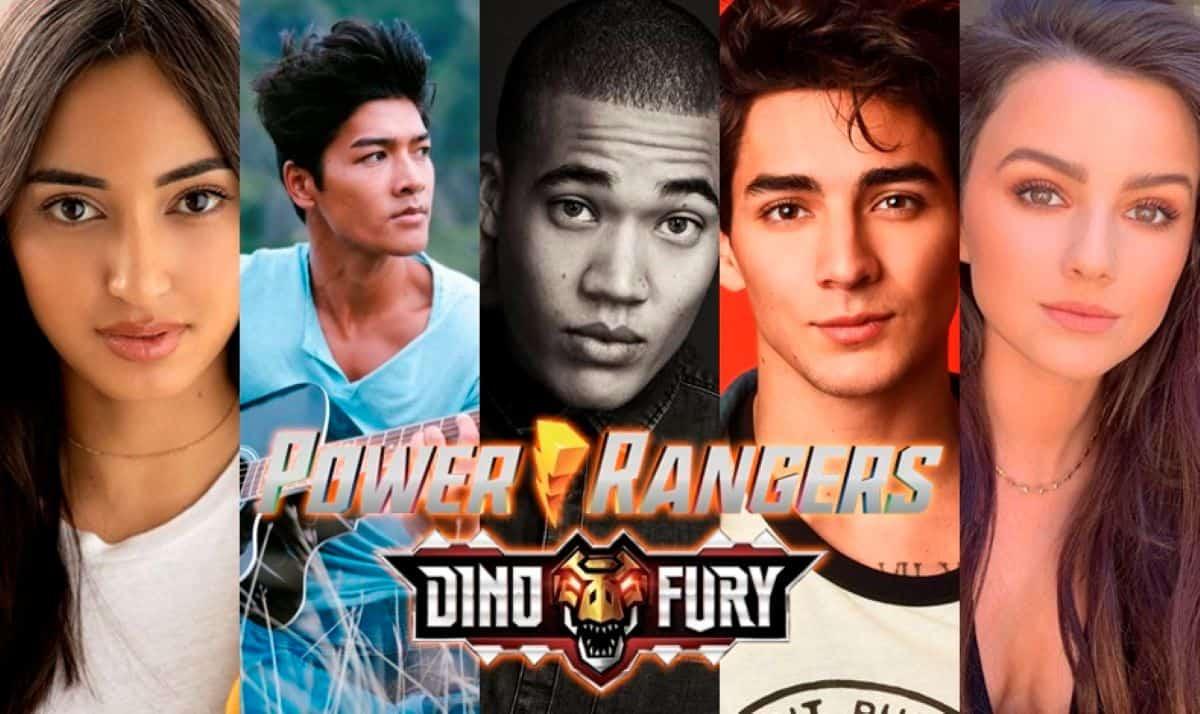 Elenco de Power Rangers Dino Fury (Divulgação)