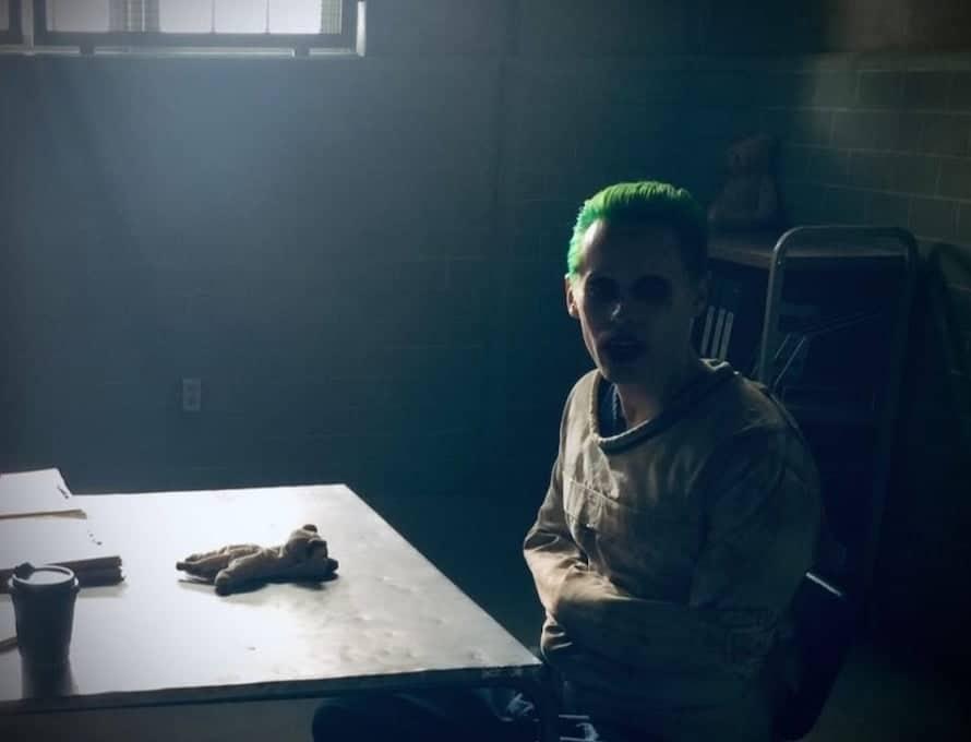 Jared Leto em bastidor de Esquadrão Suicida