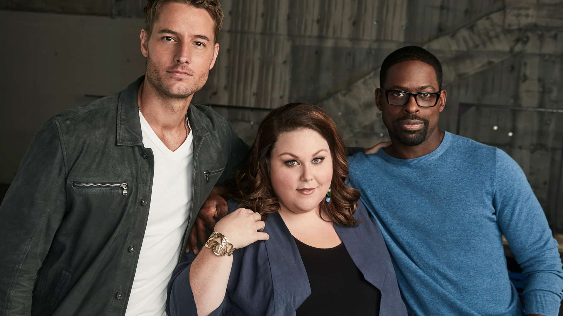 Justin Hartley, Chrissy Metz, e Sterling K. Brown em This is Us