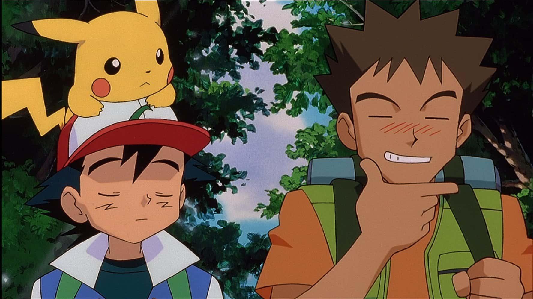 Pikachu, Ash e Brock em Pokémon