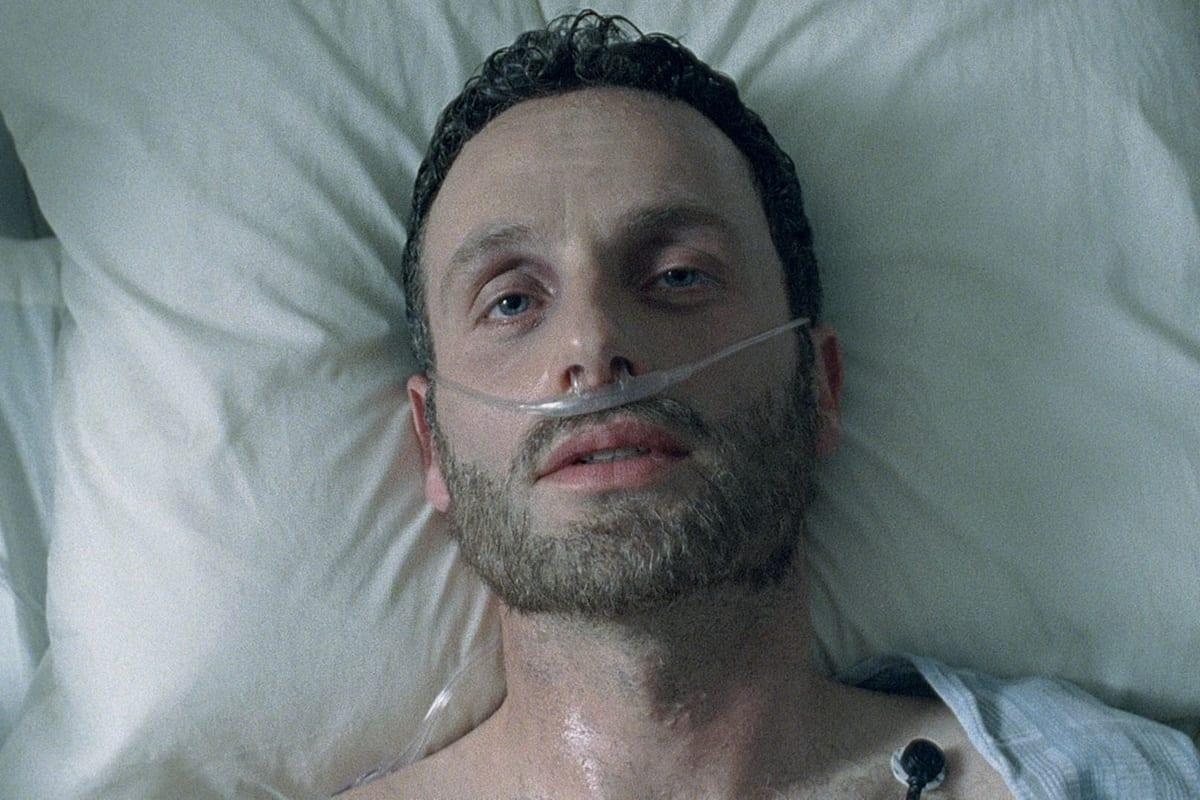 Rick (Andrew Lincoln) e Shane (Jon Bernthal) no primeiro episódio de The Walking Dead