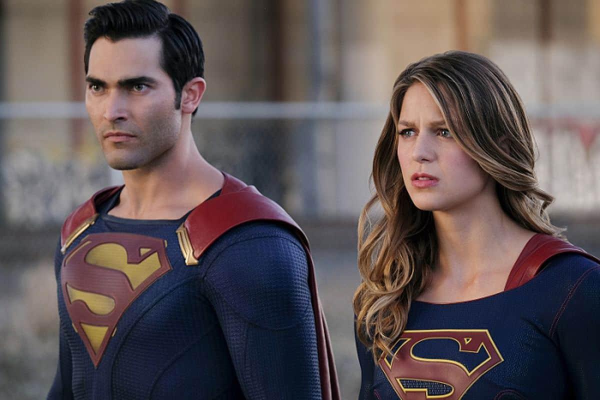Superman (Tyller Hoechlin) e Supergirl (Melissa Benoist) em Supergirl