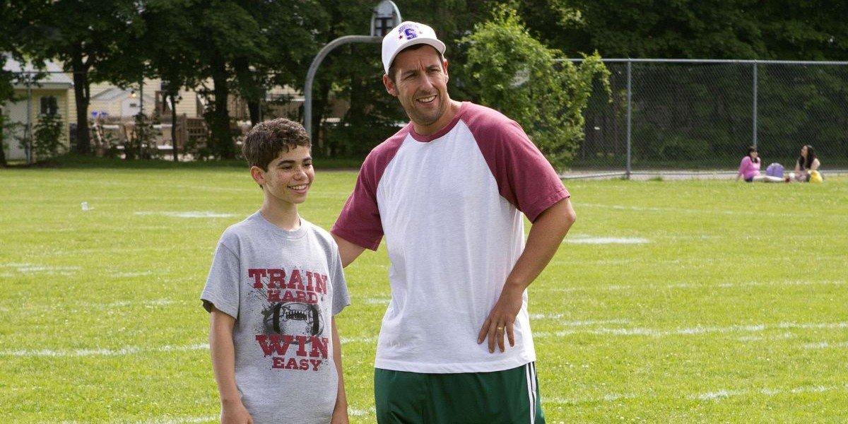 Cameron Boyce e Adam Sandler em Gente Grande (Reprodução)