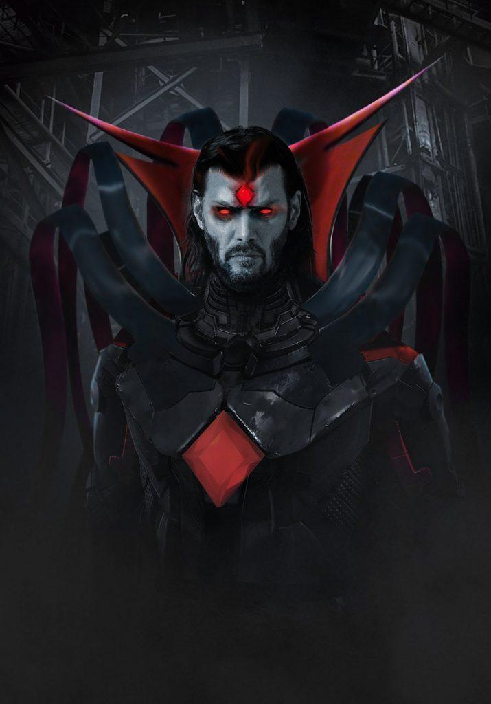 Arte mostrando Keanu Reeves como Sr. Sinistro