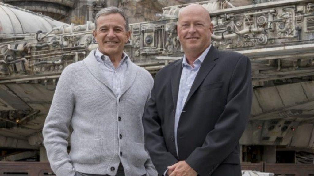 Bob Iger e Bob Chapek, na troca de CEO da Disney