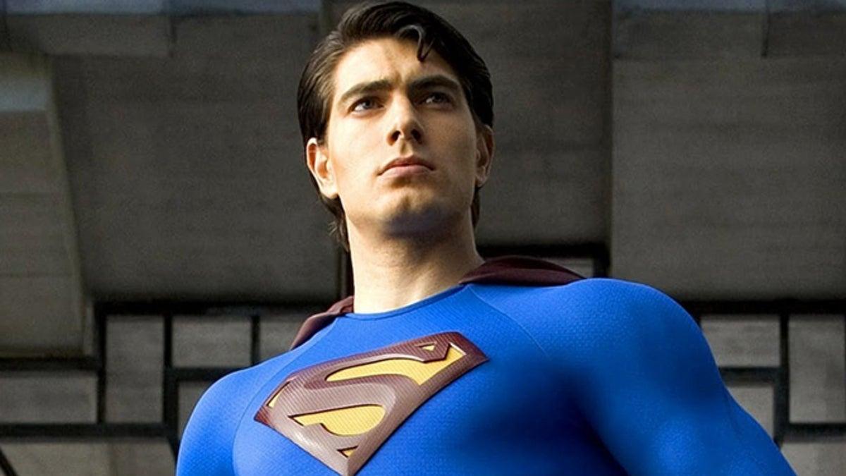 Brandon Routh como Superman no filme Superman O Retorno