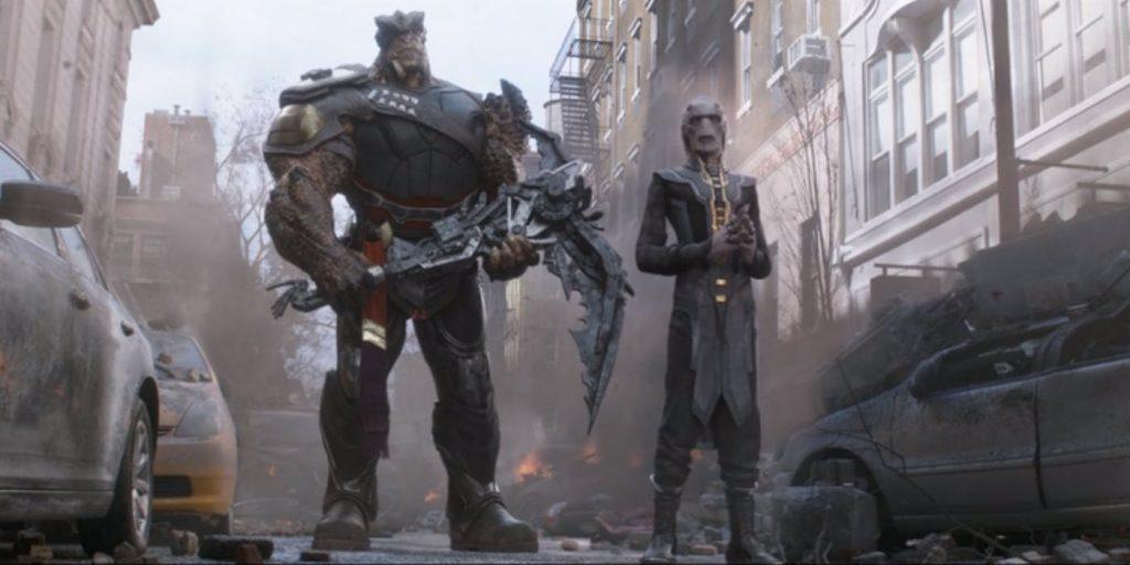 Cull Obsidian em luta de Vingadores