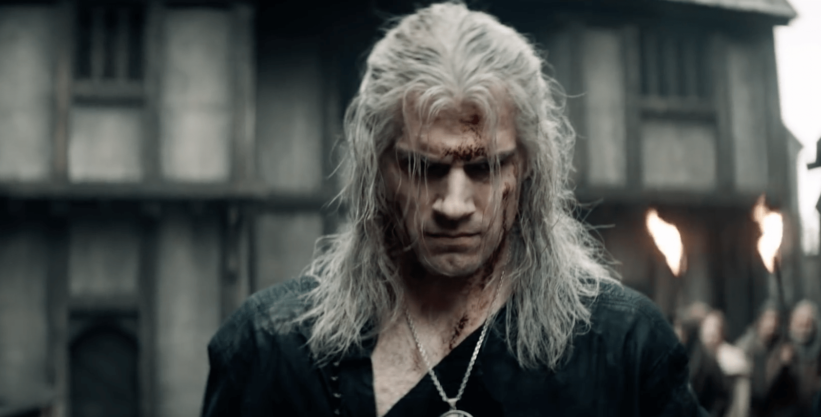 Geralt (Henry Cavill) em The Witcher