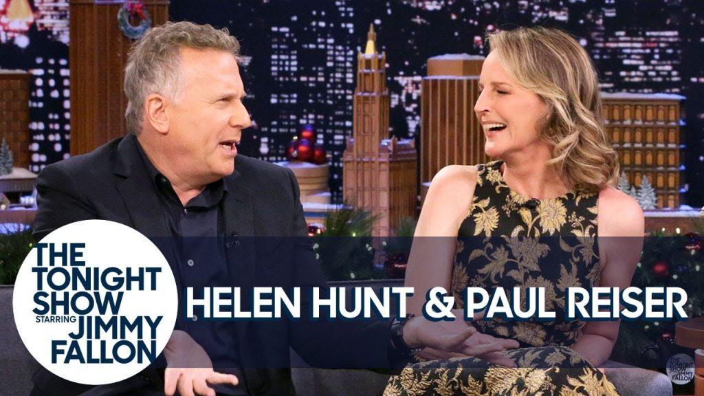 Helen Hunt e Paul Reiser no The Tonight Show
