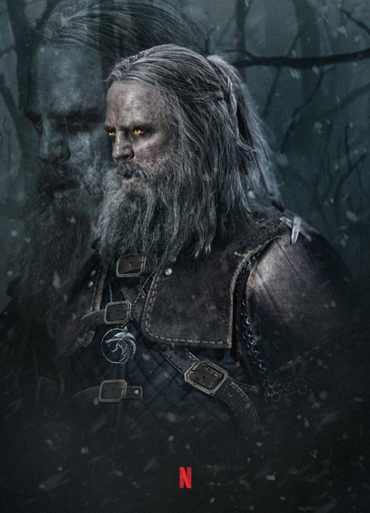 Ilustração de Mark Hamill como personagem de The Witcher