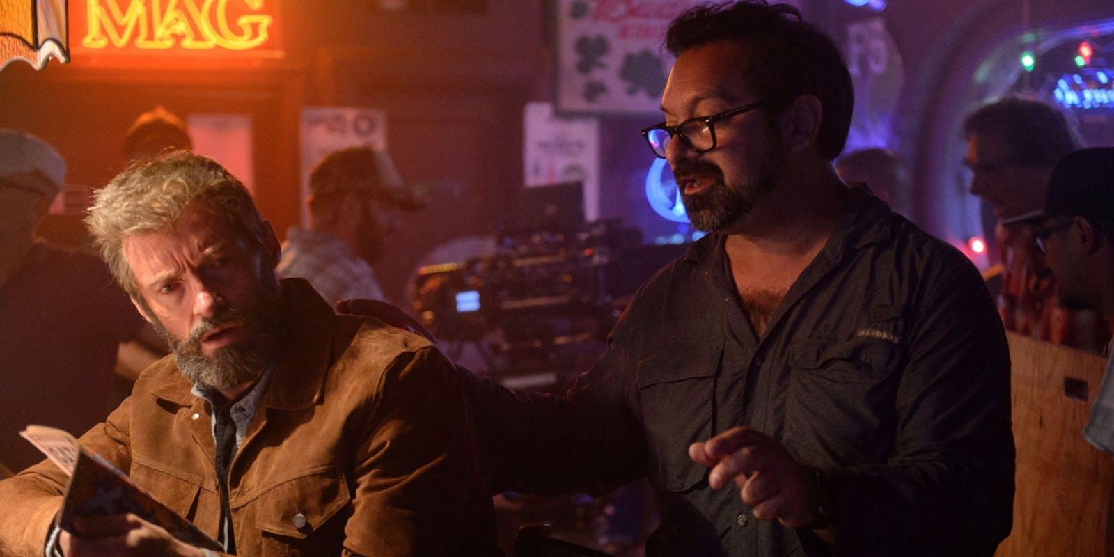 James Mangold dirigindo Hugh Jackman em Logan