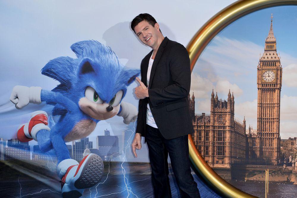 Jeff Fawler no lançamento de Sonic: O Filme