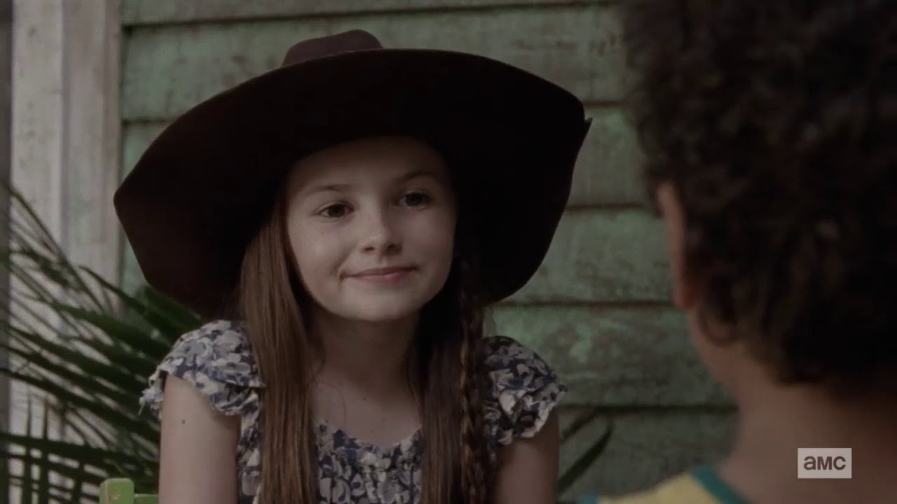 Judith (Cailey Fleming) em The Walking Dead