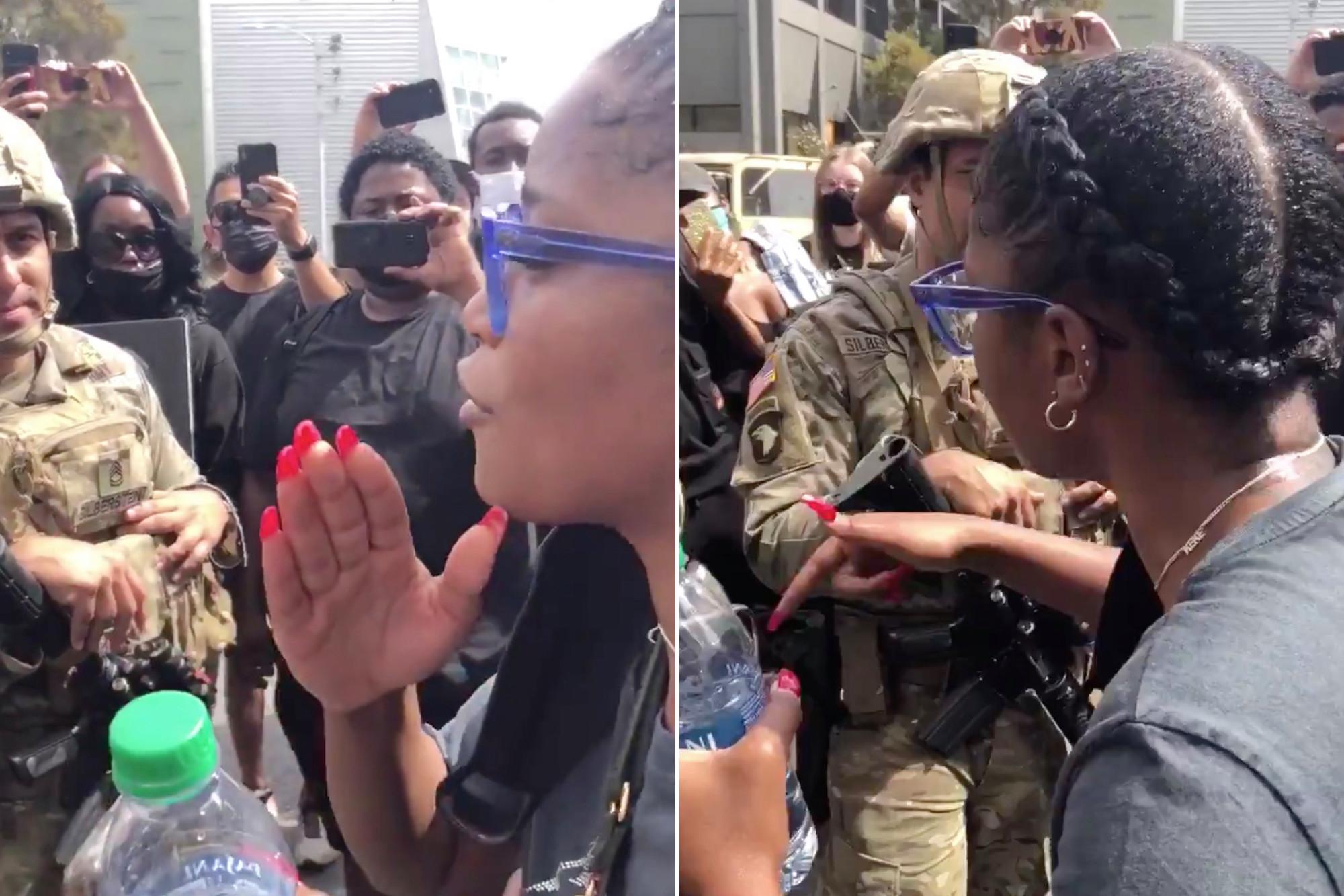 Keke Palmer durante protestos americanos