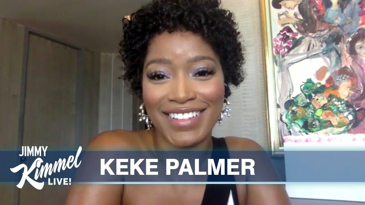 Keke Palmer no programa Jimmy Kimmel