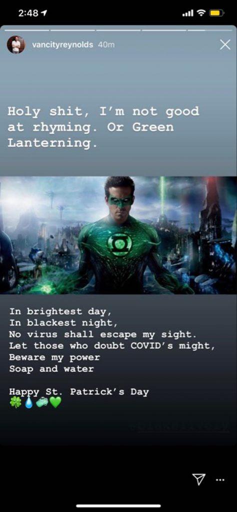 The Green lantern, Ryan Reynolds