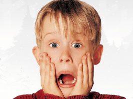 Macaulay Culkin em divulgação do filme Esqueceram de Mim