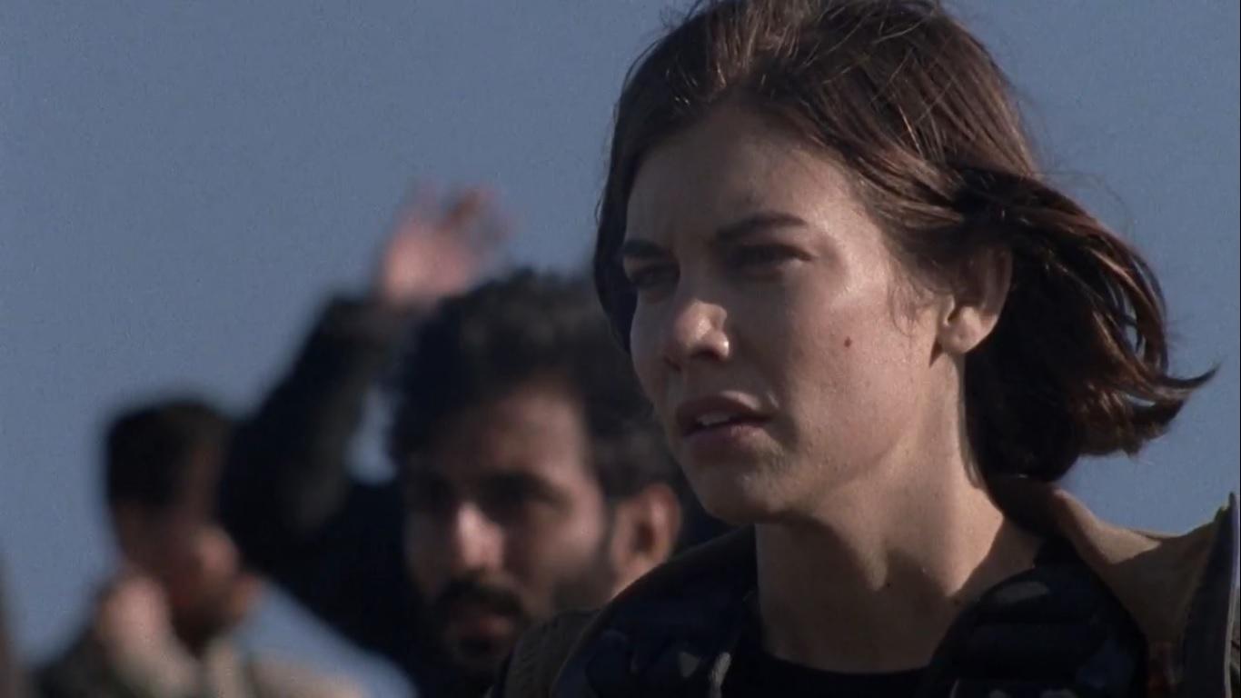 Megan (Lauren Cohan) ao ver que Rick poupou a vida de Negan em The Walking Dead