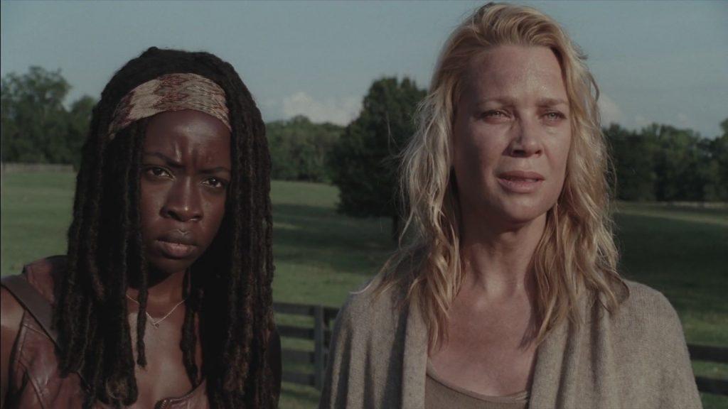 Michonne (Danai Gurira) e Andrea (Laurie Holden) em The Walking Dead