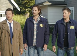 Misha Collins, Jared Padalecki e Jensen Ackles em Supernatural