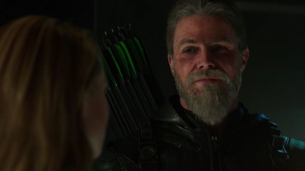 Oliver Queen no Crossover das Infinitas Terras