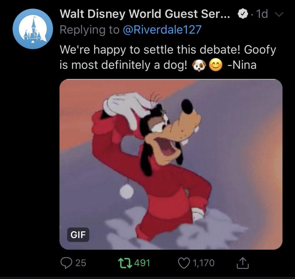 Parque da Disney responde sobre Pateta