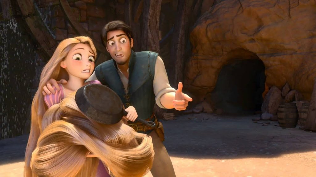 Rapunzel e Flynn em Enrolados