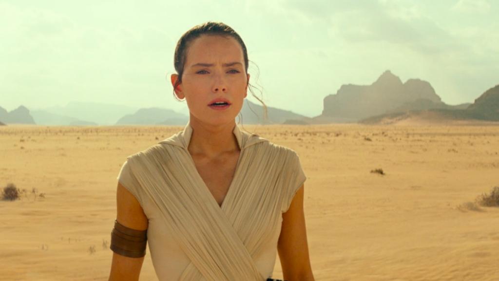 Daisy Ridley como Rey em Star Wars