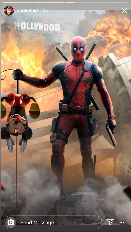 Rob Liefeld publica foto de Deadpool matando Mickey em Hollywood