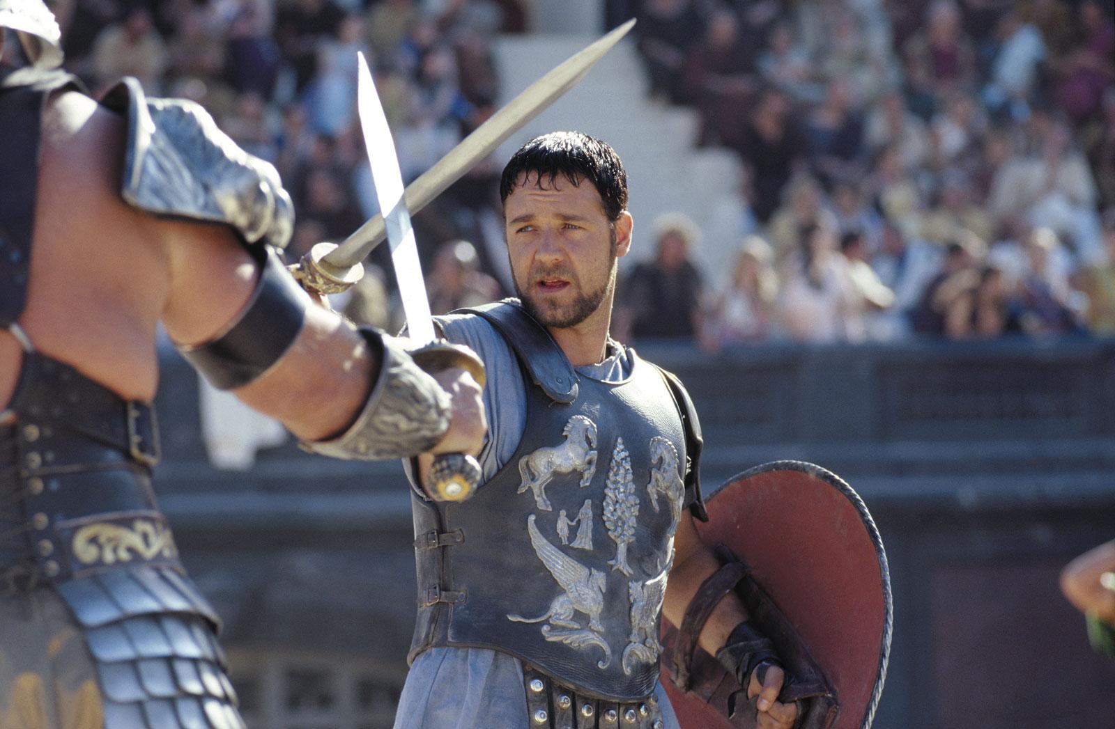Russel Crowe em Gladiador