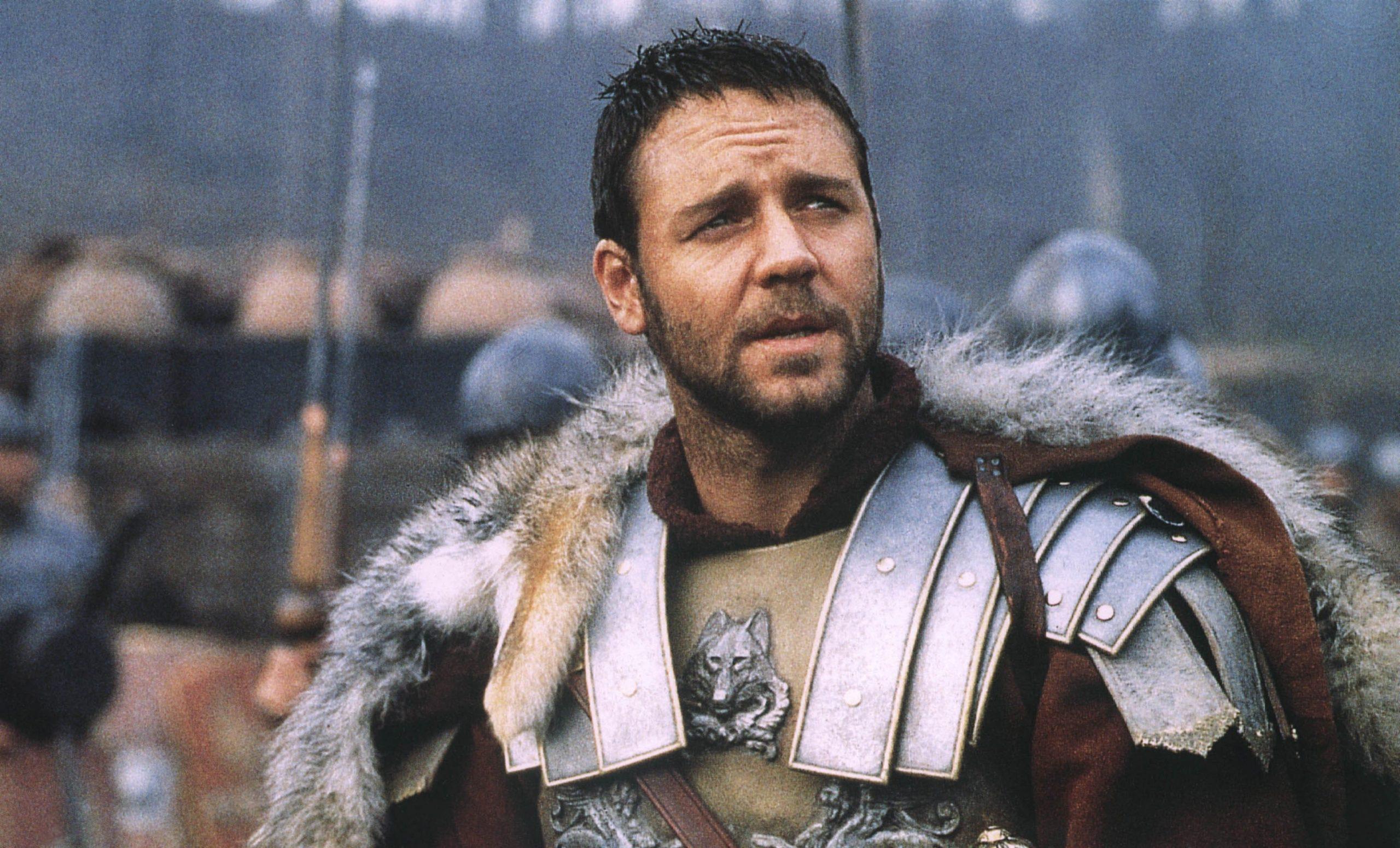 Russel Crowe no filme Gladiador