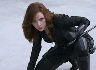 Scarlett Johansson como Viúva Negra em Capitão América: Guerra Civil