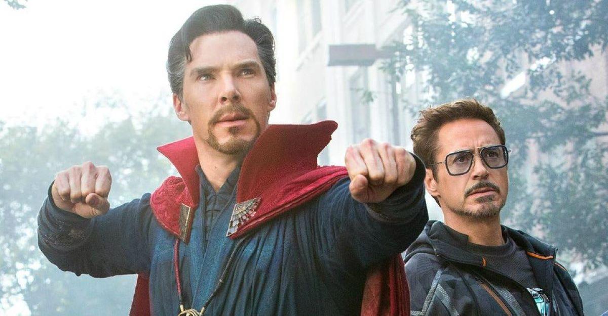 Doutor Estranho e Tony Stark em Vingadores: Ultimato (Marvel / Disney)