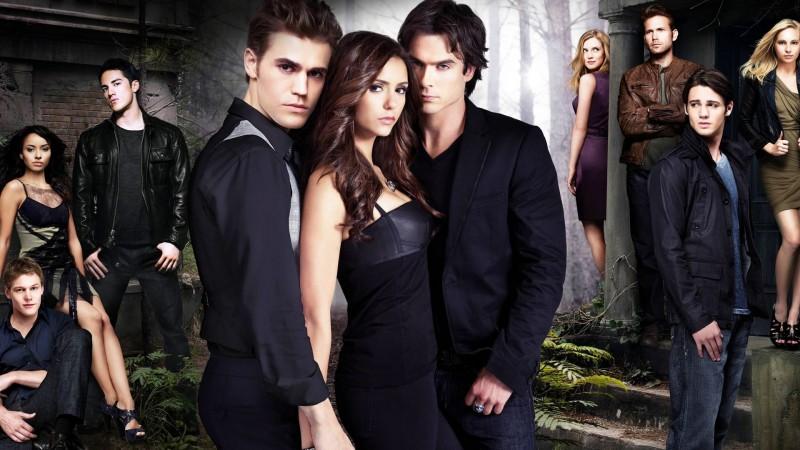 Paul Wesley, Nina Dobrev e Ian Somerhalder protagonizam The Vampire Diaries (Divulgação)