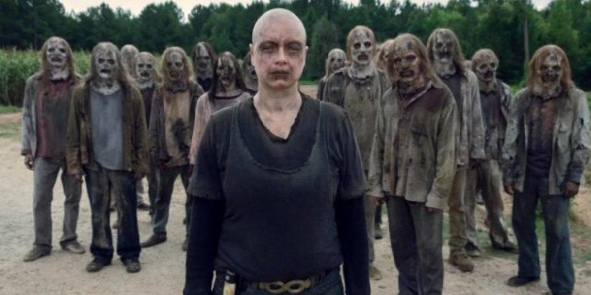 Alpha em cena impactante de The Walking Dead (Reprodução: AMC)