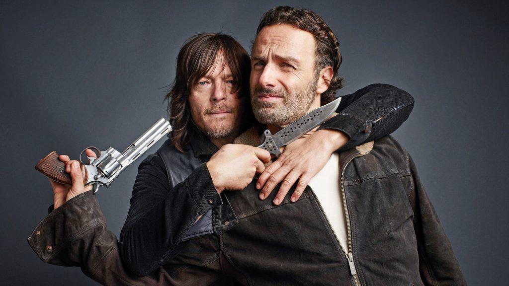 Norman Reedus e Andrew Lincoln de The Walking Dead