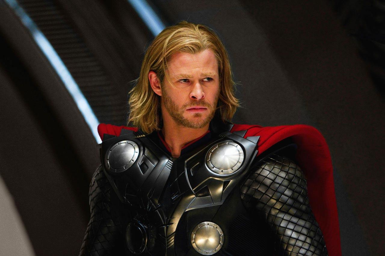 Thor (Chris Hemsworth) no primeiro filme da franquia