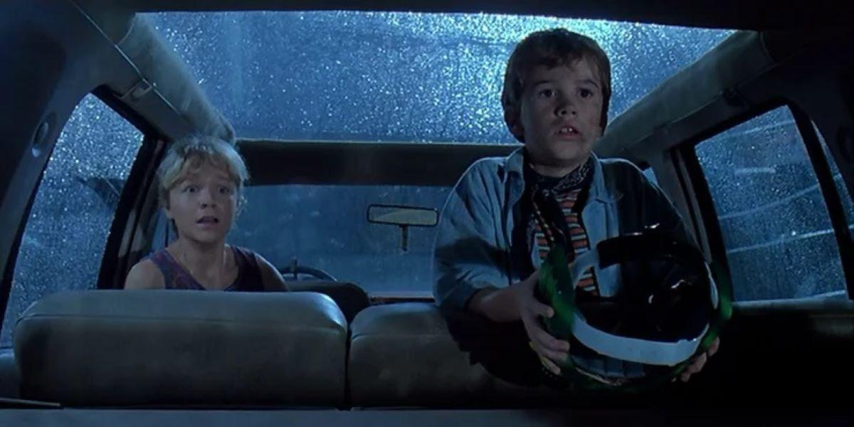 Lex e Tim em Jurassic Park (Reprodução / Universal)
