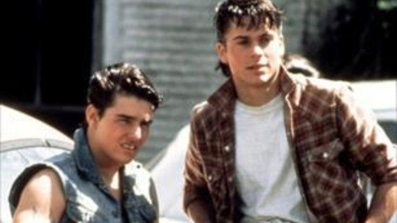 Tom Cruise e Rob Lowe no início da carreira