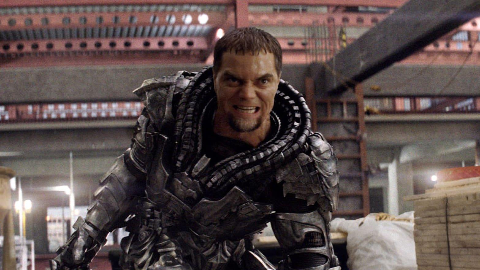 Zod (Michael Shannon) em Homem de Aço