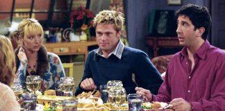 Brad Pitt durante sua participação na série Friends (Reprodução)