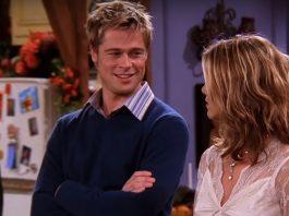 Brad Pitt e Jennifer Aniston atuam juntos na série Friends (Reprodução)