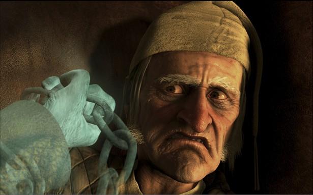 Cena de 'Os fantasmas de Scrooge', baseado em Dickens e com Jim Carrey (Imagem: Divulgação)