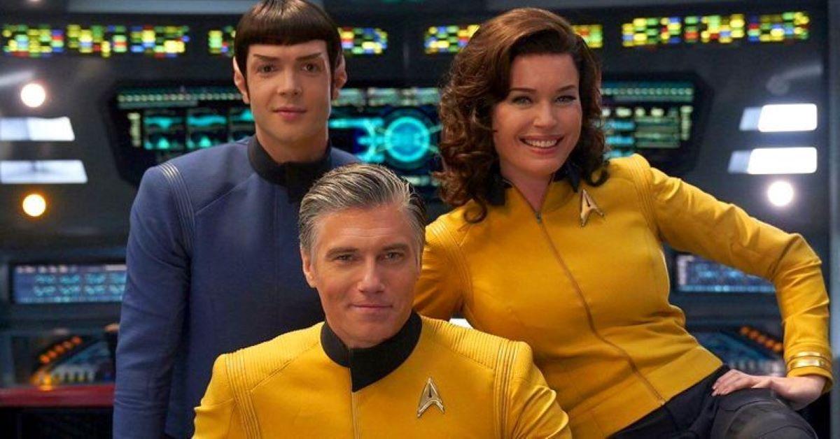 Spock, o Capitão Pike e Número 1 em Star Trek (Divulgação / CBS)