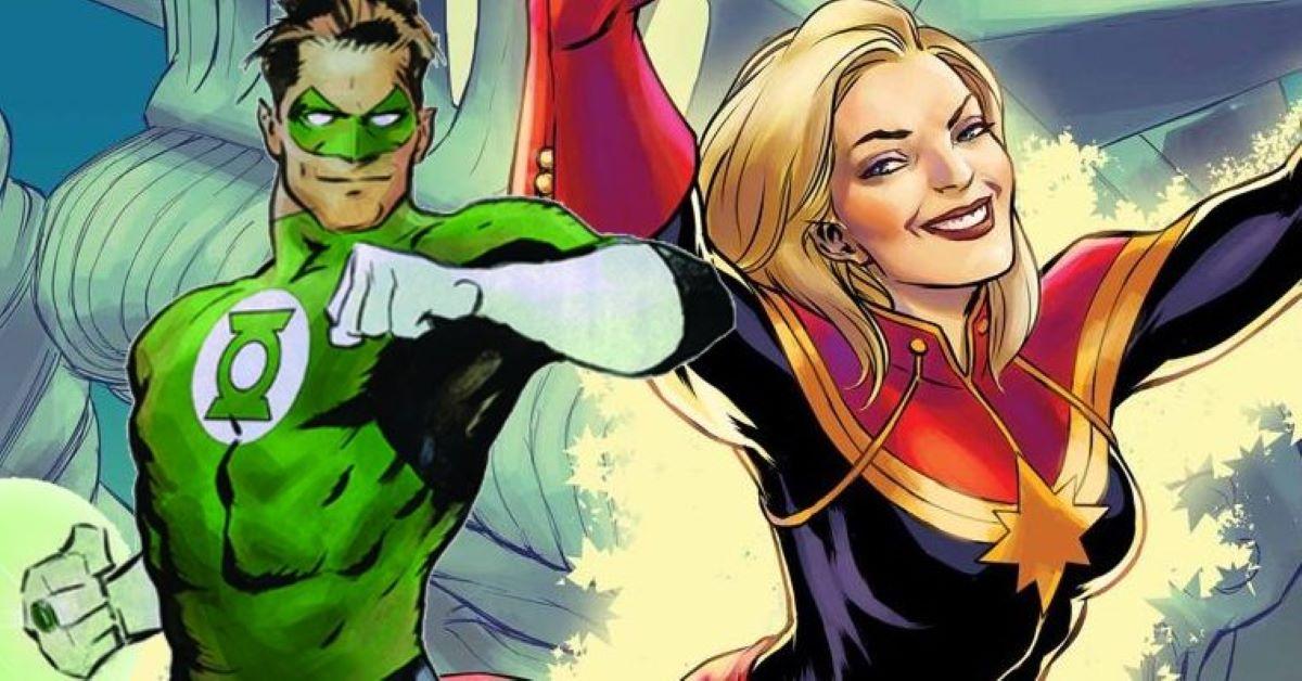 Laterna Verde e Capitã Marvel (Divulgação)